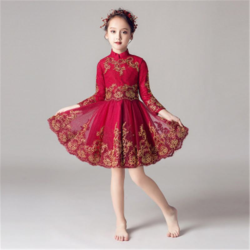 2019 New Elegant Teenage Girl Mesh Embroidery Princess Dress Kids Dresses For Girls Wedding Party Baby Girl Clothes Vestido S1432019 New Elegant Teenage Girl Mesh Embroidery Princess Dress Kids Dresses For Girls Wedding Party Baby Girl Clothes Vestido S143