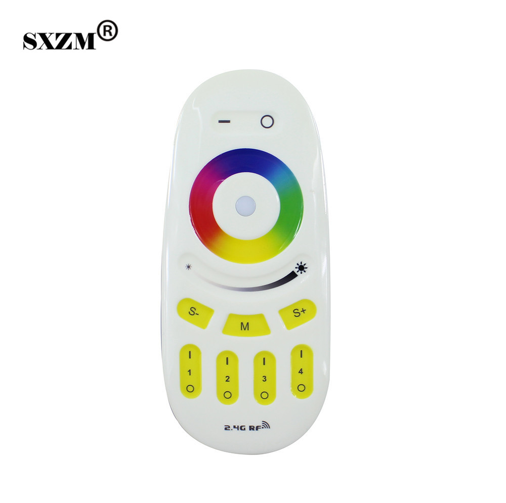 Lighting Accessories Professional Sale Sxzm 2.4g Rgbw/rgb Remote Control For Bulb&led Strip Wireless Rf Controller Touch Screen Controller Strengthening Waist And Sinews