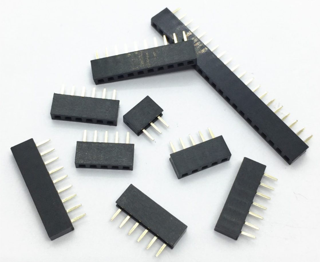 Pitch 2.0mm 2/3/4/5/6/7/8/9/10/11/12/13/14/15/16/20/40 Pin Stright Female Single Row Pin Header Strip PCB Connector 10Pcs