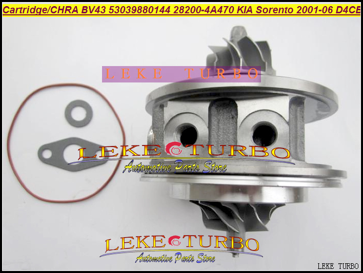 Turbo cartridge chra core K03 28200-4A470 282004A470 53039880144 53039880122 53039700122 53039700144 For KIA Sorento D4CB 2.5L bv43 5303 970 0144 53039880122 chra turbine cartridge 282004a470 original turbocharger rotor for kia sorento 2 5 crdi d4cb 170hp