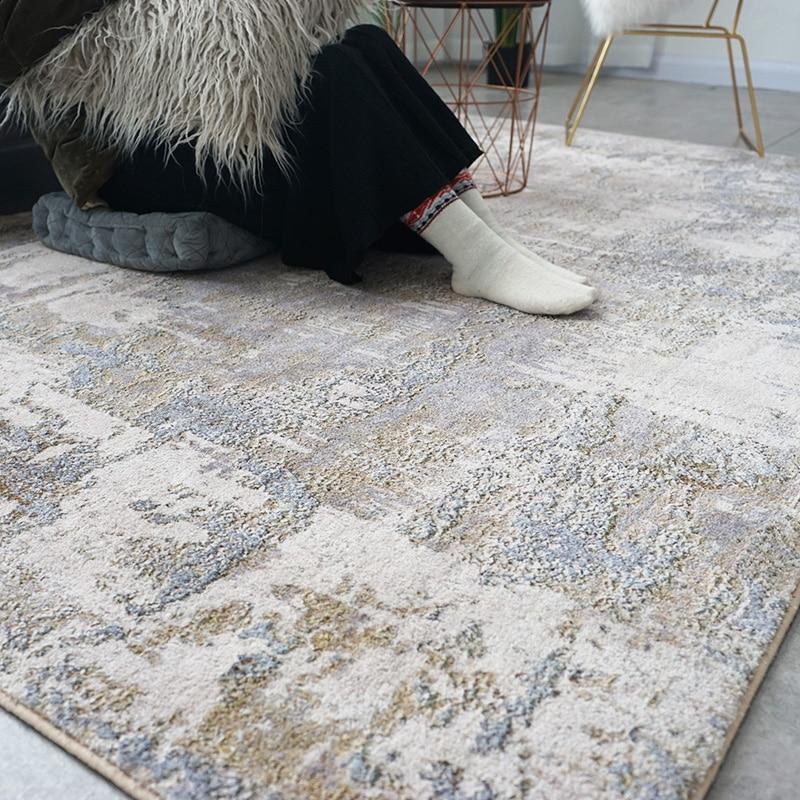 Tapis en coton doux et tapis pour la maison salon Style nordique moderne chevet chambre tapis tapis enfants chambre couloir étage Runner