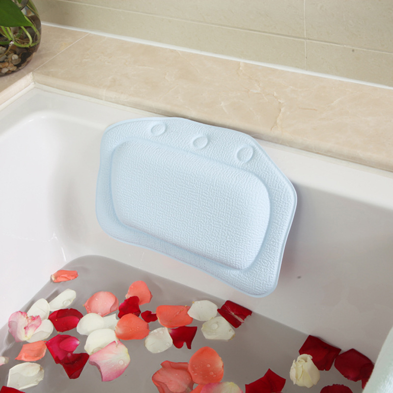 New PVC Foam Bath Pillow Comfortable Tub Head Cushion For Bathing ...