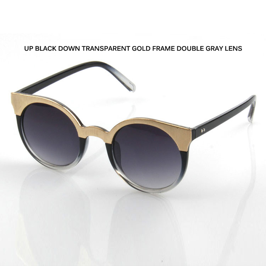 Laura Fairy Fashion Round Sunglasses Color Block Coating Lens Sun Glasses Women Men Ocul ...
