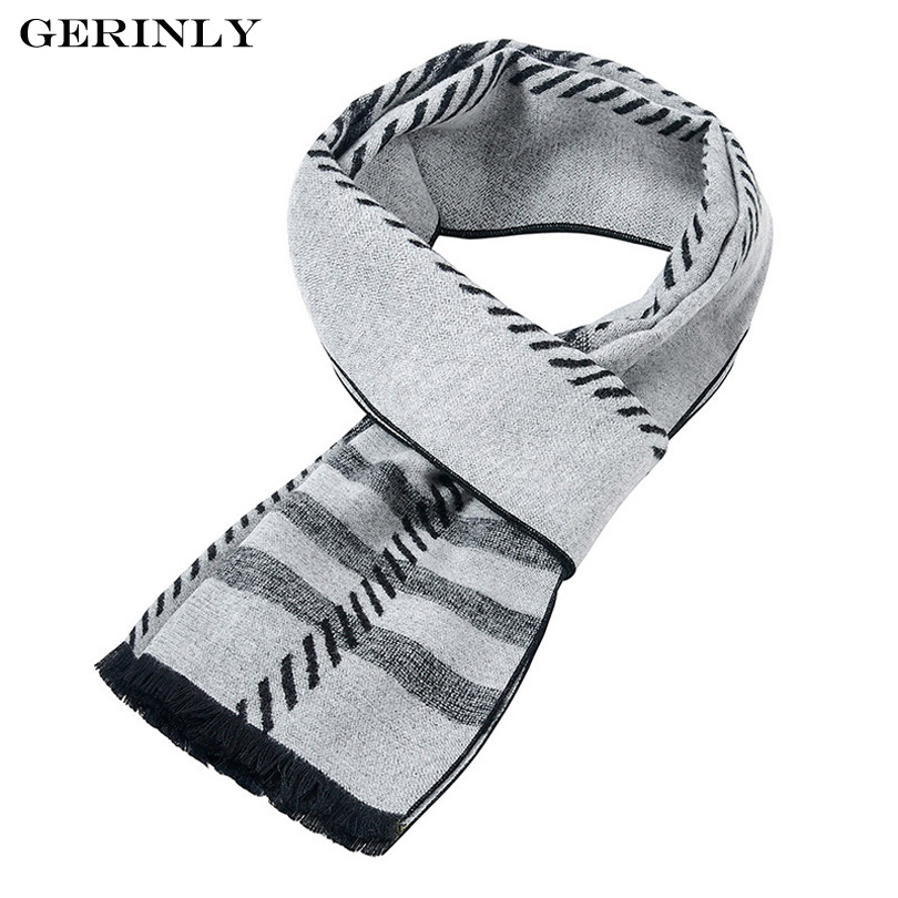 GERINLY Winter Men's Scarf New Fashion Design Casual Scarves Luxury Brand Warm Neckercheif High Quality Male Thick Scarfs 180*30