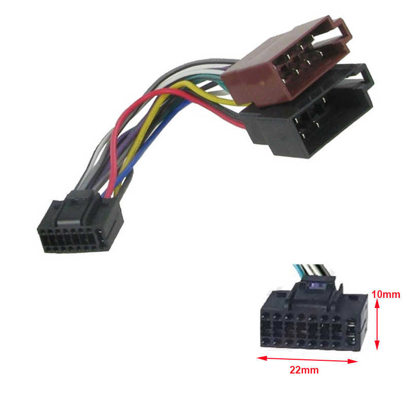 New Car Radio ISO Wiring Harness Adaptor Cable 16 Pin for ... Kenwood Pin Wire Harness on