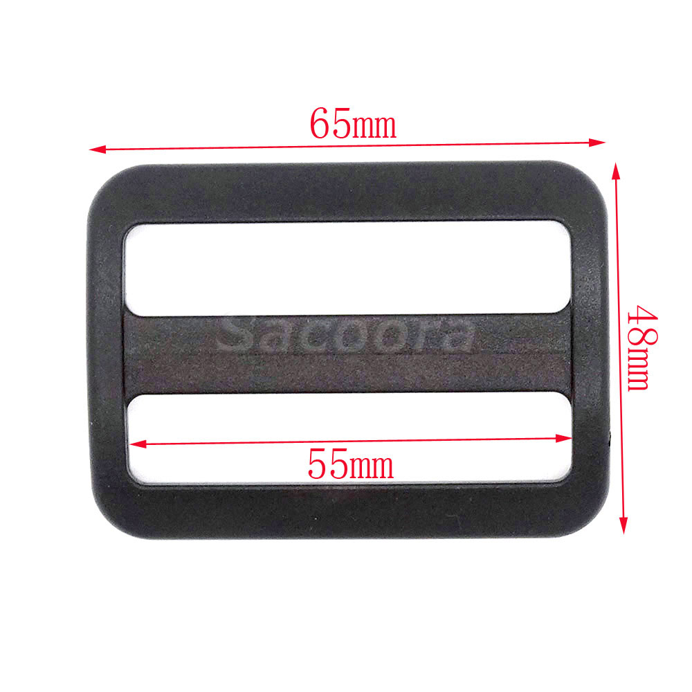 Arts,crafts & Sewing 5pcs Pack 55mm Plastic Tri-glide Slider Adjustable Buckle Black For Backpack Straps Webbing #flc459-b