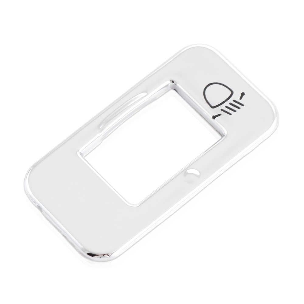 Calidad recoge cromo ABS Ajuste la perilla del interruptor de cubierta de la etiqueta engomada para peugeot 301, 2008, 308, 3008, 408, 508