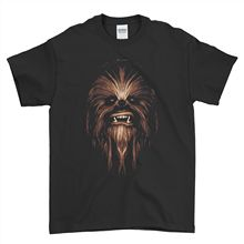 Chewbacca T Shirt Face Chewie Darth Vader Wookie Star Wars Mens Top Tee Free shipping  Harajuku Tops Fashion Classic