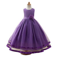 Girls Ball Gown Dresses Sleeveless Lace Lolita Style Princess Dress Costumes Crew Neck Evening Dress New