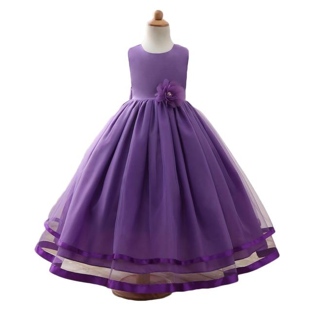 321245c66dd Niños Vestidos Para Niñas Vestidos de Niña de Cumpleaños Ropa Del Cabrito  Princesa Traje Del Vestido