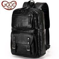 New box type Paul men's business bulk shoulder bag high grade PU leather fashion leisure travel men's backpack