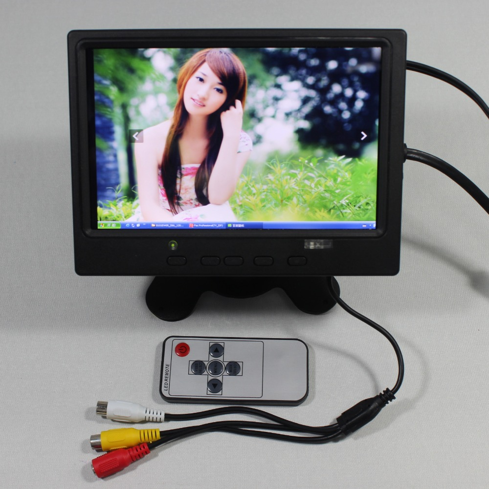 7inch Lcd monitor 800x480 with HDMI+VGA+AV+Reversing with Europe Power supply for bus monitor VS-T0701ERB-V1 aputure digital 7inch lcd field video monitor v screen vs 1 finehd field monitor accepts hdmi av for dslr