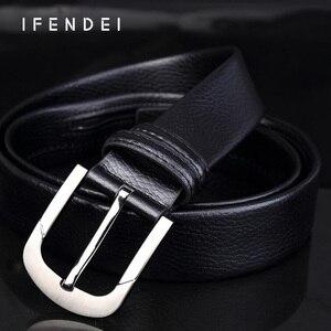Image 4 - IFENDEI Geld Leder Gürtel Für männer Luxus Marke Gürtel Schwarz Designer Geheimnis Tasche Strap Versteckte Geld Echte Lederband