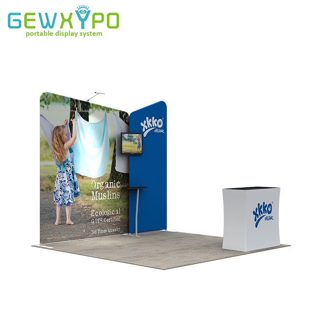 Portable Exhibition Banners : 10ft*10ft expo booth solution tension fabric advertising printed