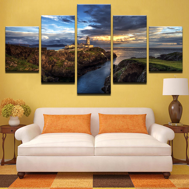 Wall Art Pictures Home Decor Canvas HD Print 5 Piece Steep Cliff ...