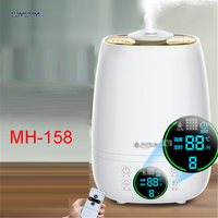 MH 158 4 5L Remote Control Ultrasonic Air Aroma Humidifier With LCD 220V Electric Aromatherapy Essential