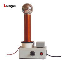 Tesla coil spark gap thunder simulator high frequency alternating current wireless transmission Light gas lamp T0587