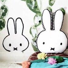 Baby Room Decor Cute Cushion Rabbit Decoration Pattern Cotton Plush Cushions Bunny Pillows Children Toy Nordic Style
