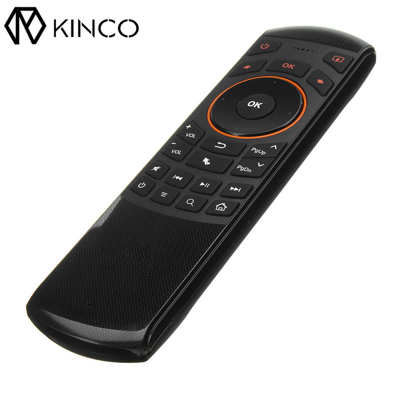 KINCO PC TV Box Smart Remote Control with 2.4G Receiver Wireless keyboard IR controller for Windows & Android OS& Linx 3d42738i tv remote receiver receives board juc7 820 00047872 used disassemble