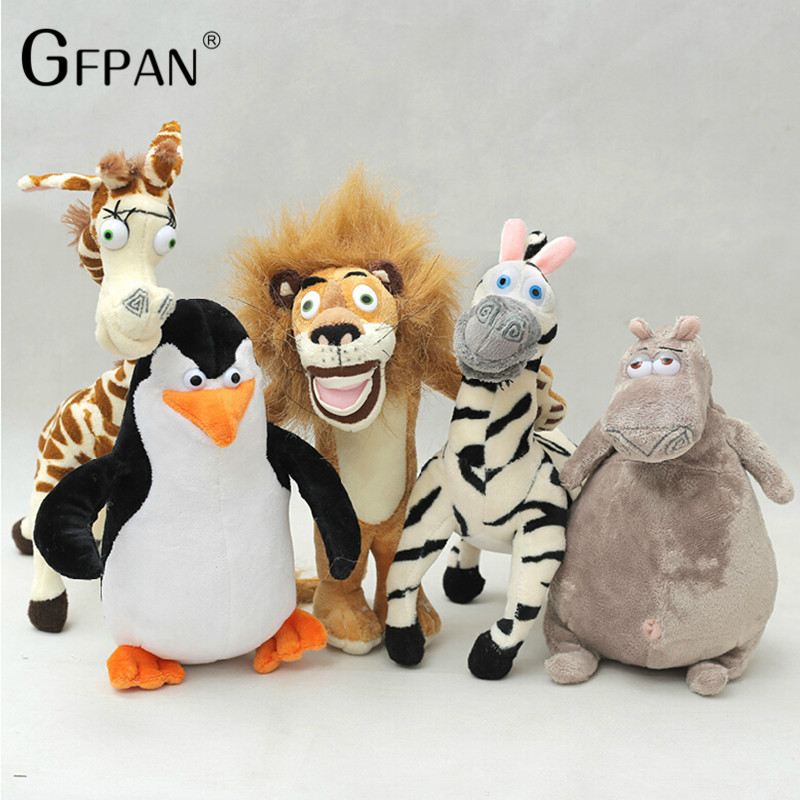 6pcs-set-Hot-Sale-Wholesale-Madagascar-Plush-Toys-Lion-Zebra-Giraffe-Monkey-Penguin-Hippo-Children-Party (2)_