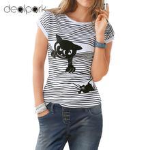 Women T shirt Cat Print