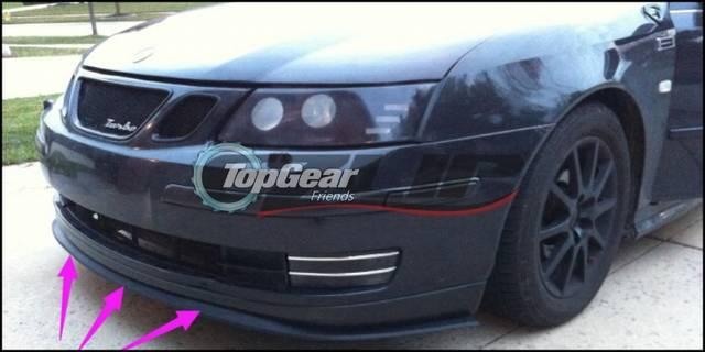 Per Lip Deflector Lips For Saab 9 3 93 Aero My14 Turbo X Front Spoiler