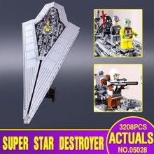 2016 Nowy Lepin 05028 Star Wars Execytor Super Star Destroyer Zestaw Modelu Budynku Blok Cegła Zabawki Prezent Kompatybilny