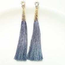 Модные длинные серьги с кисточками Boho Jewelry Love Rhinestone Висячие серьги для женщин подарок