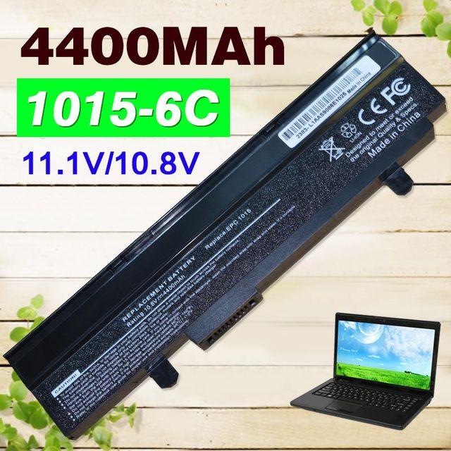 4400 mah preto bateria para asus eee pc 1015 1015b 1015 p 1011 1016 1215 r051 r011 a31-1015 a32-1015 al31-1015 pl32-1015