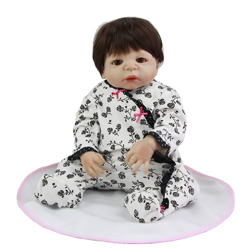New Design Babies Dolls Handmade 23 Inch Reborn Baby Girl Full Silicone Vinyl Princess Doll Toy Can Be Bathed Kids Birthday Gift