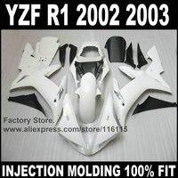 Custom free injection mold fairings kits for YAMAHA YZF R1 2002 2003 fairing kit R1 02 03 YZF R1 full white body repair parts