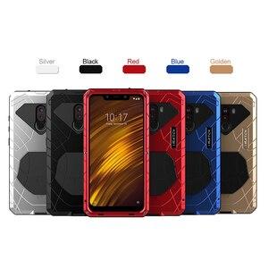 Image 5 - 샤오미 mi Pocophone F1 X2 전화 케이스 Hard Alu mi num 샤오미 9 9T 9T Pro 용 금속 강화 유리 스크린 보호기 커버