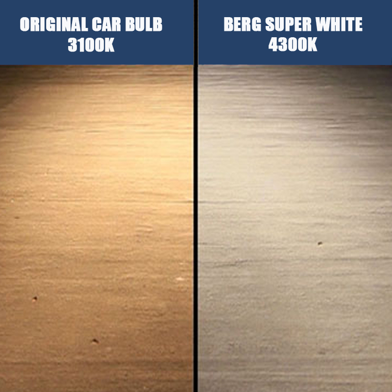2PCS H3 Llambë Halogen Xenon 4300K 12V 55W Qeliz Super White - Dritat e makinave - Foto 5