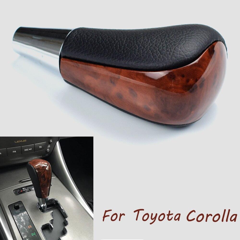 Auto Automatische Übertragung Getriebe Schalthebel Knopf Für TOYOTA Corolla Camry HARRIER FORTUNER CROWN Land Cruiser Nussbaum Styling