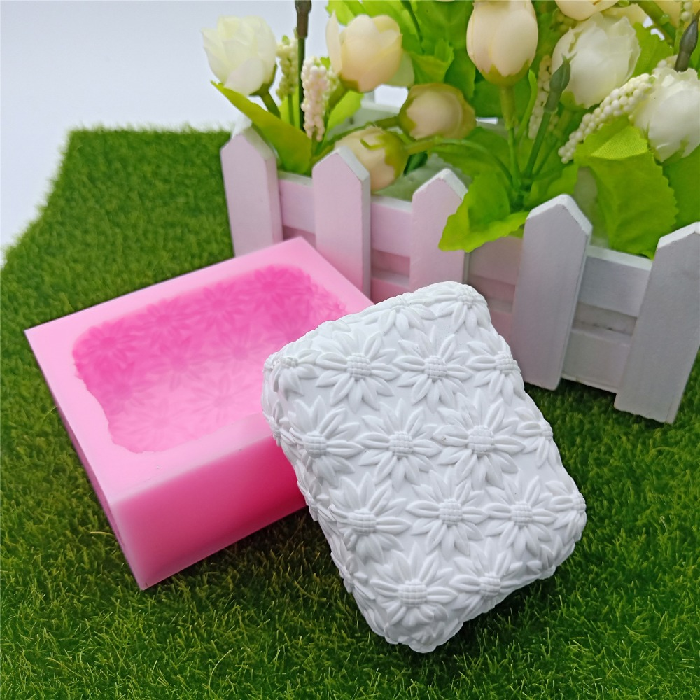 Sunflower Handmade Soap Mold Diy Silicone Molds For Natural Making