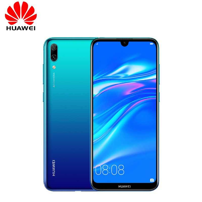 "Huawei Desfrutar 9 4000 mAh Y7 Pro 2019 Smartphone Global Firmware 6.26 ""Fullview Snapdragon 450 Núcleo octa Android 8.1 13MP AI Câmera"
