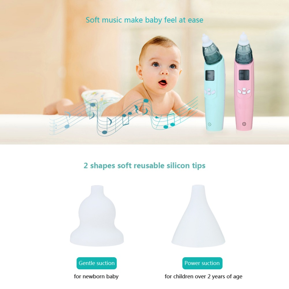 Baby Safety Electric Singing Nasal Aspirator Safe Hygienic Nose Snot Cleaner Suction with LCD screen For Newborn Infant Toddler (1)