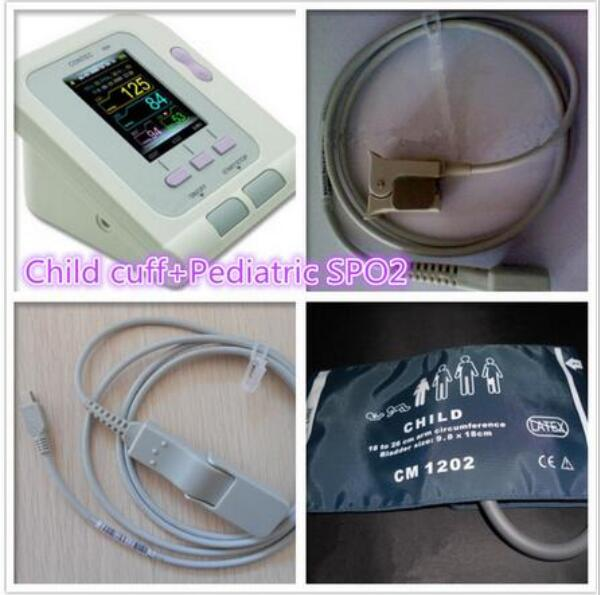 Free Shipping CONTEC08A children SPO2 sensor pediatric Digital Automatic NIBP Child BP Monitor Sphygmomanometer free shipping contec08c with adult spo2 sensor vet blood pressure monitor sphygmomanometer digital automatic nibp