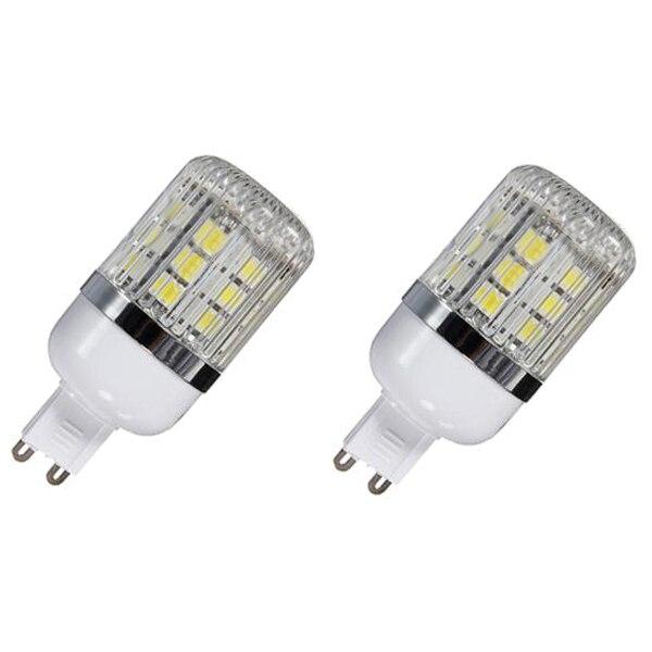 G9 5W Dimmable 27 SMD 5050 LED Corn Light Bulb Lamp Color Temperature:Pure White(6000-6500K) Amount:8 Pcs new corn bulb e27 9 11 12 14w 220v pure warm white smd 5050 44 52 60 64 led spot light bulb lamp flat tube