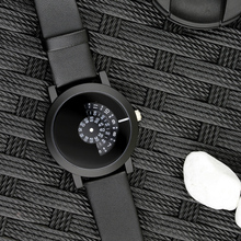2017 Enmex creative design  wristwatch camera concept brief simple design  special digital discs hands fashion quartz watches