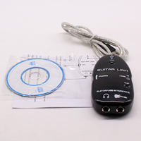 Guitarlink Lead To Computer Electric Guitar Link USB Audio Cable Interface For PC MAC MP3 Recording