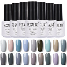 Rosalind Classic Grey Color Series marca UV Gel esmalte de uñas empapa de larga duración lámpara LED para uñas barniz Gel arte de uñas(China)
