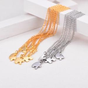 Image 5 - Индивидуальное ожерелье U7 BFF для 5 пар кулонов из нержавеющей стали любовное сердце подходящий набор подарок на день матери Бесплатная гравировка P1241