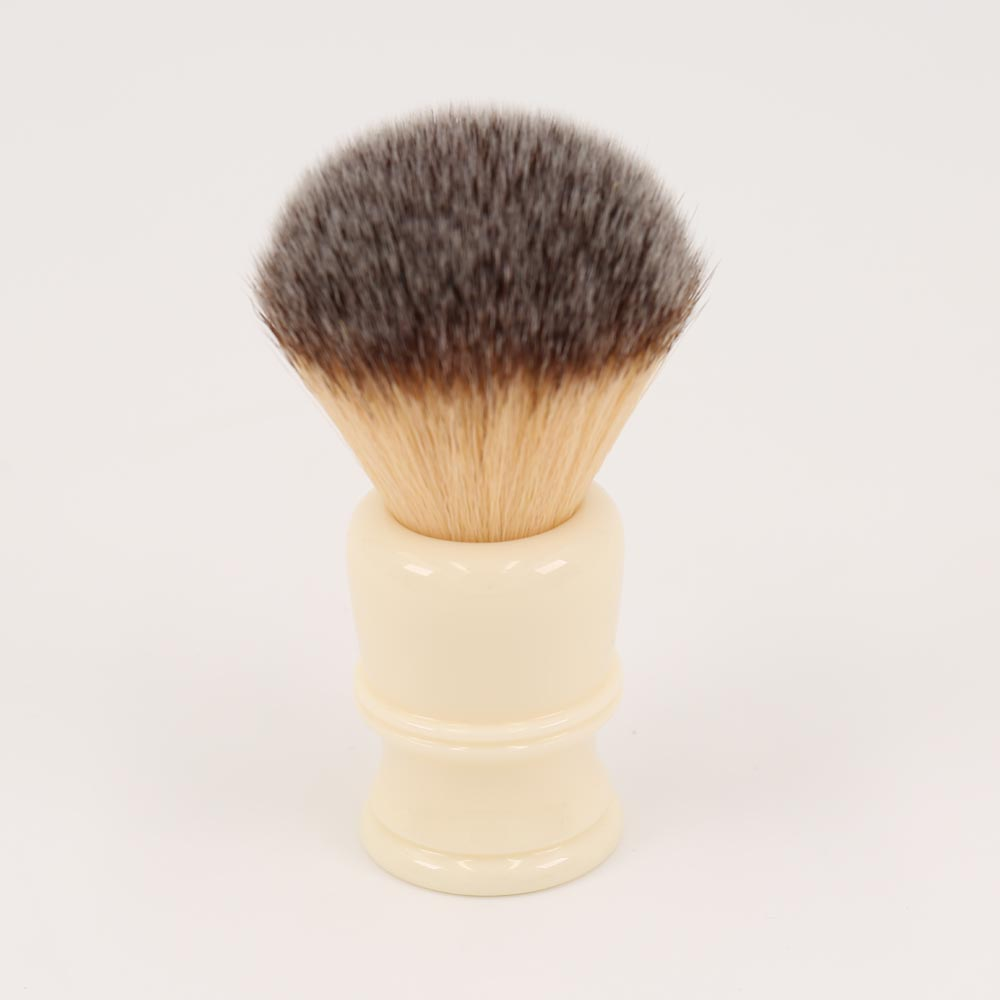 22MM Synthetic Hair Milky White Resin Handle Mens Shaving Brushes