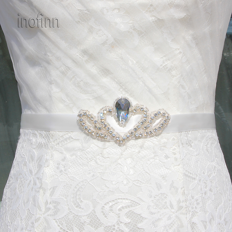 Inofinn WHM3 Crystal Rhinestones Evening Party Gown Dresses Accessories Wedding Belts Sashes,Bride Waistband Bridal Sashes Belts