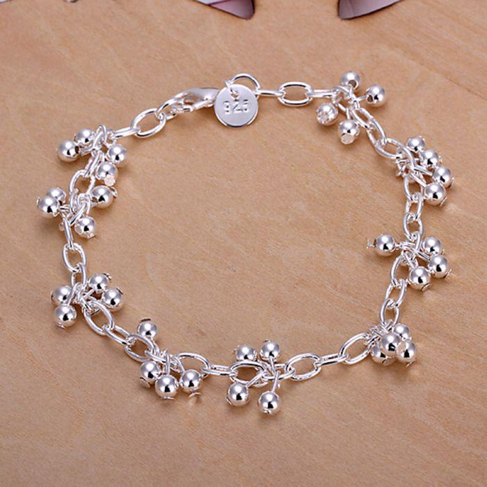 a783a50c2503 Navidad regalo 2016 Nueva 925 joyería plateada plata de la joyería uvas  grano ligero pulseras y brazalete