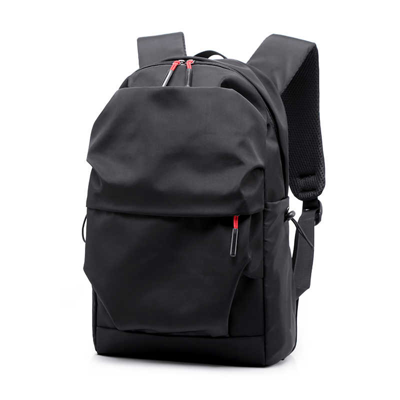 New Men Backpack for 15.6 Inches Laptop Back Pack Large Capacity Stundet  Backpacks Pleated Casual Style d00c7bab88331
