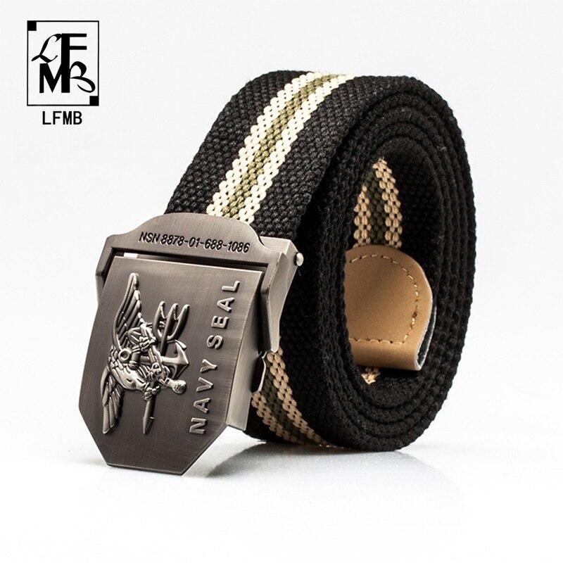 [LFMB] Men Belt Tactical Belt Canvas Cintos Cintura Correa Tactics Rem Jeans Belts For Men Canvas  Buckle Belt Military