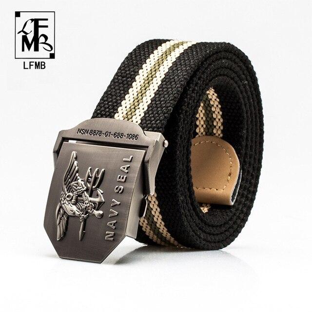 LFMB hombres cinturón táctico cinturón cintos cintura correa tácticas rem  jeans cinturones de lona de 50787e8a5ad4