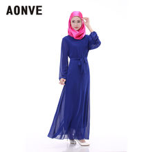 31277e7e5d0 Aonve décontracté Islam femme vêtements bleu Royal longue robe indonésie  femmes Abaya musulman noir Maxi Caftan